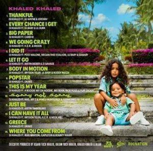 Khaled Khaled Tracklist