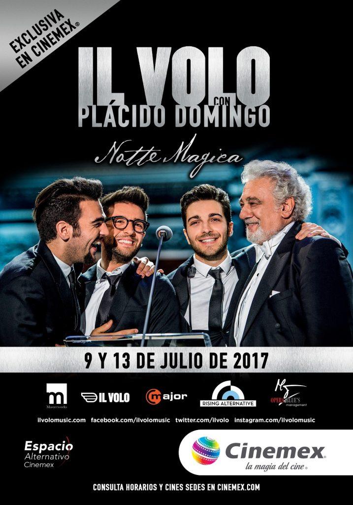 Il Volo con Plácido Domingo ahora en cines