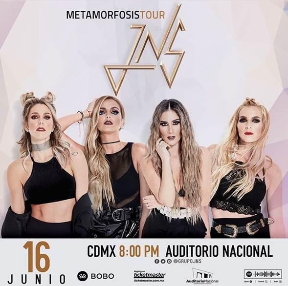 """JNS ¡""""METAMORFOSIS"""" es Disco de Oro y anuncian el inicio de su nuevo tour!"""