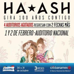 HA*ASH ANUNCIA 2 NUEVAS FECHAS EN EL AUDITORIO NACIONAL