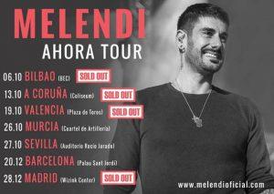 MELENDI SIGUE DEJANDO LOCALIDADES SOLD OUT CON SU AHORA TOUR