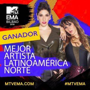 HA*ASH GANA EL MTV EUROPE MUSIC AWARD 2018, EN LA CATEGORÍA DE MEJOR ARTISTA MTV LATINOAMÉRICA NORTE