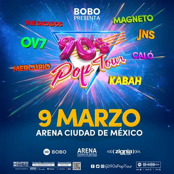 YA VIENE LA OCTAVA ARENA CDMX DEL 90'S POP TOUR CON MÁS SORPRESAS