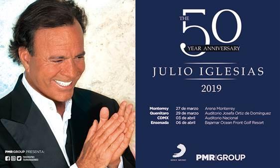 """JULIO IGLESIAS RECIB EL """"PREMIO A TODA SU CARRERA"""" Y CELEBRA SUS 50 AÑOS DE TRYECTORIA CON GIRA POR MÉXICO."""