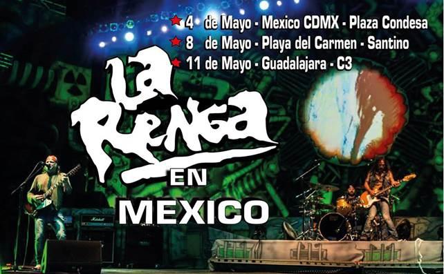 LA BANDA DE ROCK MÁS CONVOCANTE DE LATINOAMÉRICA LA RENGA LLEGA A MÉXICO.