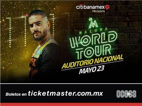 ESTE PRÓXIMO 23 DE MAYO EL MÁXIMO ÍDOLO DE LA MÚSICA URBANA, MALUMA LLEGA A LA CDMX CON SU WORLD TOUR.