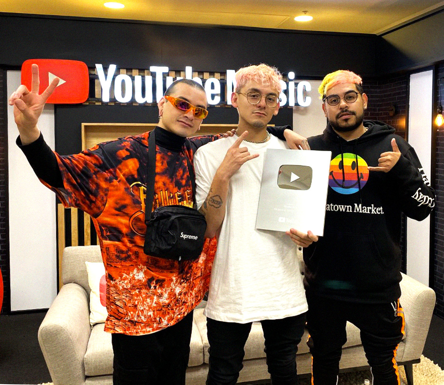 GHETTO KIDS RECIBEN BOTÓN DE YOUTUBE Y CONFIRMAN PARTICIPACIÓN EN FESTIVAL TECATE PAL NORTE 2020