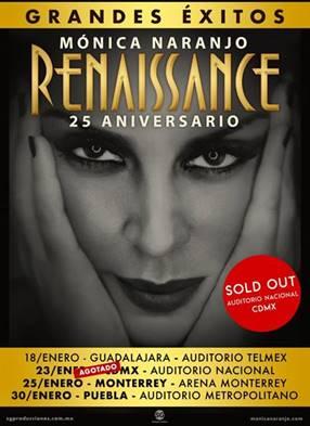 MÓNICA NARANJO ARRASA EN MEXICO CON EL TOUR RENAISSANCE