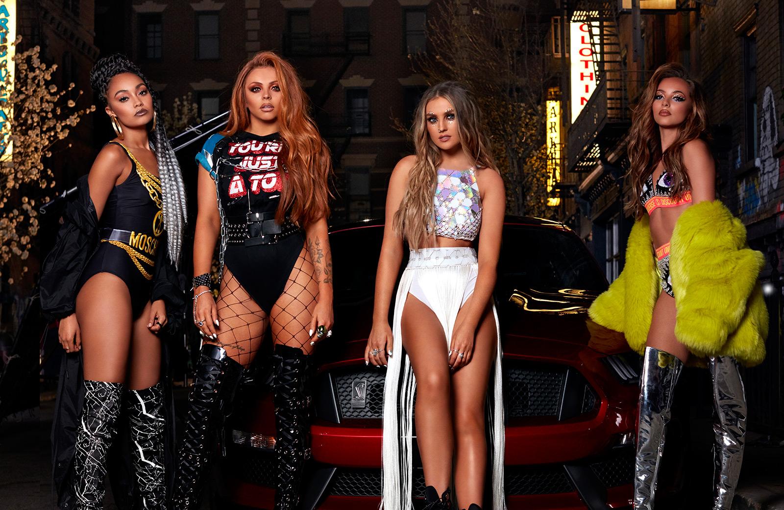 Little Mix é um girl group pop britânico consistente pelas seguintes integrantes Jade Thirlwall LeighAnne Pinnock Jesy Nelson e Perrie Edwards