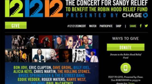 """""""12-12-12 """" concierto benéfico por los afectados por el huracán 'Sandy' en directo hoy desde el Madison Square Garden de Nueva York"""