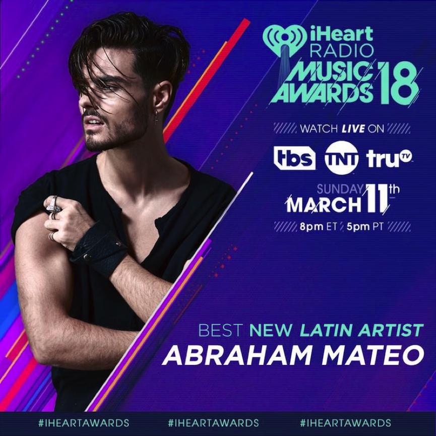 Abraham Mateo nominado a Mejor nuevo artista latino en los Premios iHeartRadio en Estados Unidos