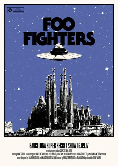"""Foo Fighters presentan su nuevo álbum """"Concrete and Gold"""" en un súper secret show en Barcelona"""