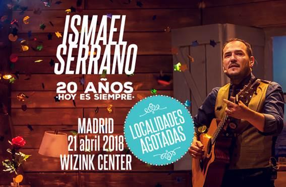 Ismael Serrano agota las entradas para el concierto en el WiZink Center el 21 de abril