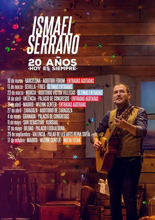 Ismael Serrano actuará en Madrid el próximo sábado con todas las entradas vendidas