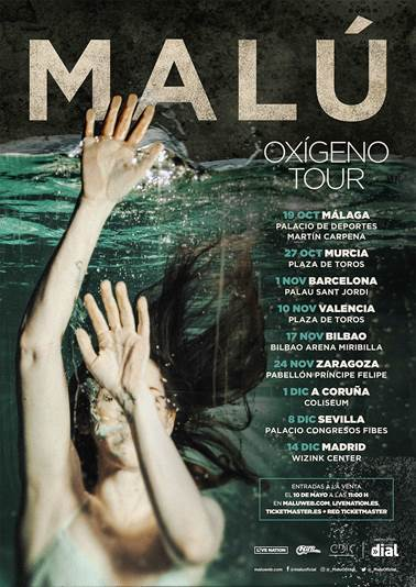 "Malú confirma su esperada nueva gira ""Oxígeno Tour"""
