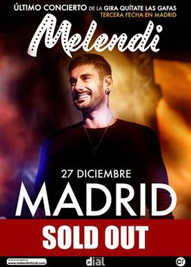 Melendi sold out madrid