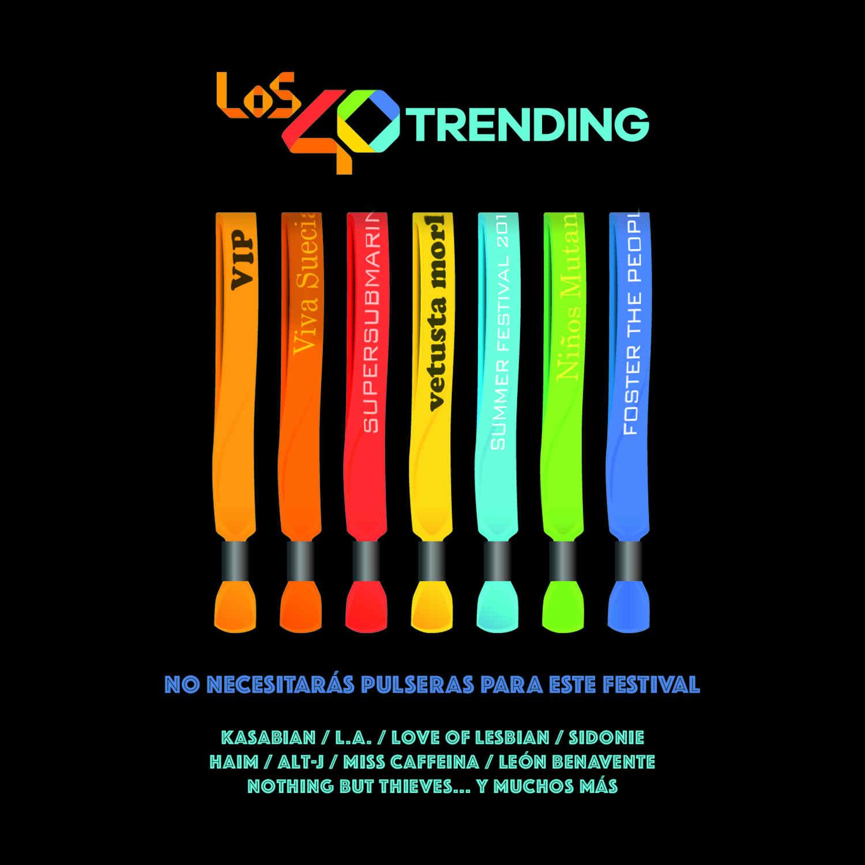 """El disco de """"Los40 Trending"""" , el mejor compañero para irte de Festivales este verano. Ya a la venta"""