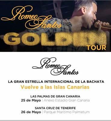 Romeo Santos, el Rey de la Bachata, añade dos fechas en Canarias a su Golden Tour en España