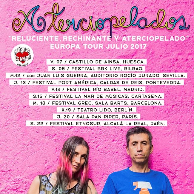 """Aterciopelados regresan a los escenarios españoles con """"Reluciente, Rechinante y Aterciopelado Europa Tour 2017"""""""
