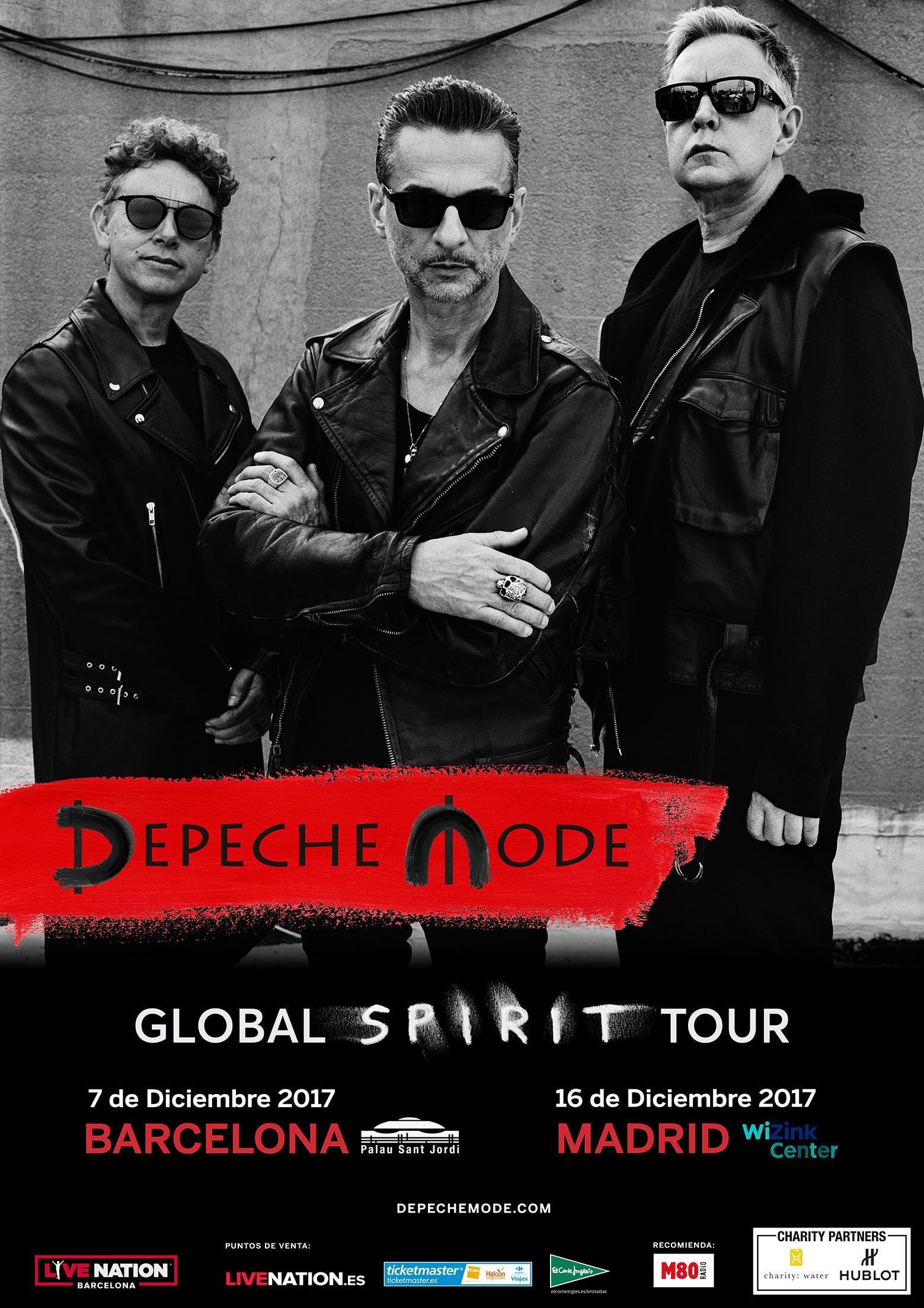 "Depeche Mode anuncia nuevas fechas de la gira ""The Global Spirit Tour"" en Barcelona y Madrid"