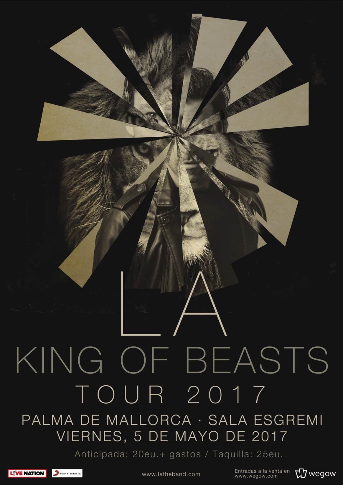 """L.A. inicia hoy en Mallorca la gira de presentación de su nuevo álbum """"King Of Beasts"""""""