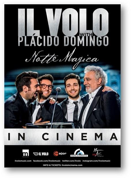 """En cines el concierto de Il Volo con Plácido Domingo, """"Notte Magica"""""""