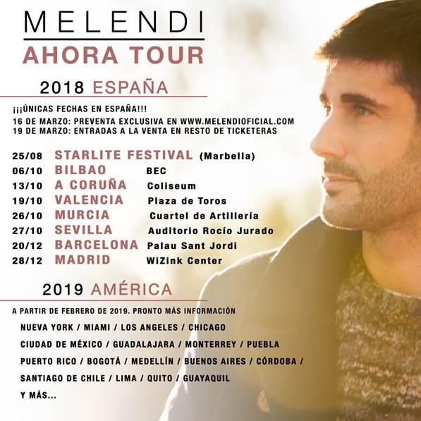 Melendi anuncia nuevas fechas de su gira y se posiciona como el artista que más entradas ha vendido en 2017