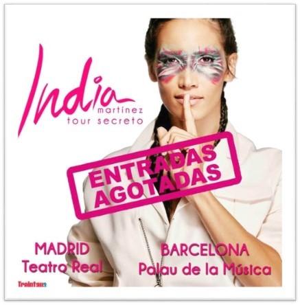 """India Martínez cuelga el cartel de """"Entradas Agotadas"""" en las principales ciudades de su gira"""