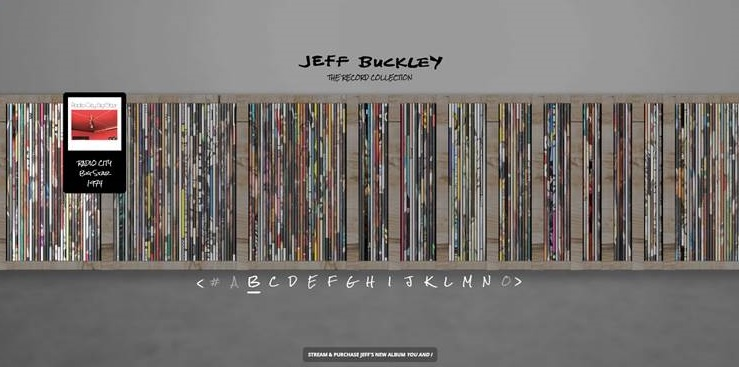 Jeff Buckley: The Record Collection. Descubre una nueva y extraordinaria web musical
