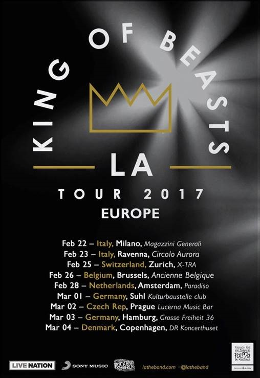 """L.A. arranca su gira internacional """"King Of Beasts 2017"""" con un concierto en Milán"""