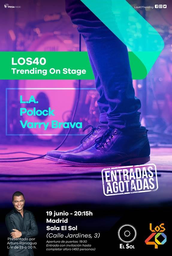 """L.A. y Polock serán los protagonistas de la 2º sesión """"Los40 Trending On Stage"""""""