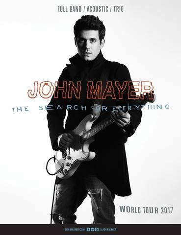 """John Mayer arranca su gira mundial """"The Search For Everything"""" el 31 de Marzo"""