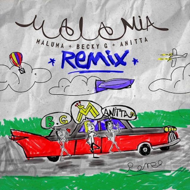 """Maluma cierra el 2018 por todo lo alto con """"Mala Mía Remix"""" feat. Becky G & Anitta"""