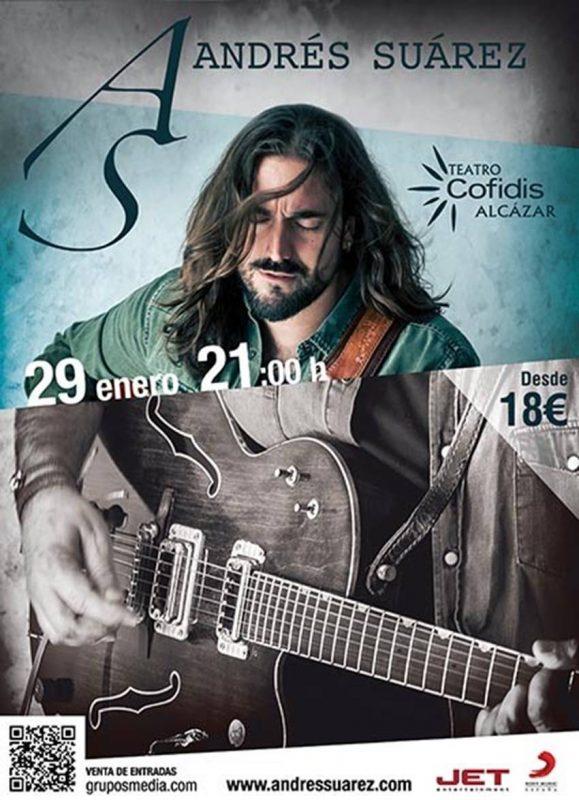 Nueva fecha de Andrés Suárez en Madrid tras agotar las entradas de sus tres conciertos ya programados