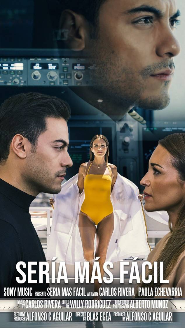 """Carlos Rivera estrena el videoclip de su nuevo single """"Sería más fácil"""" protagonizado por Paula Echevarría"""