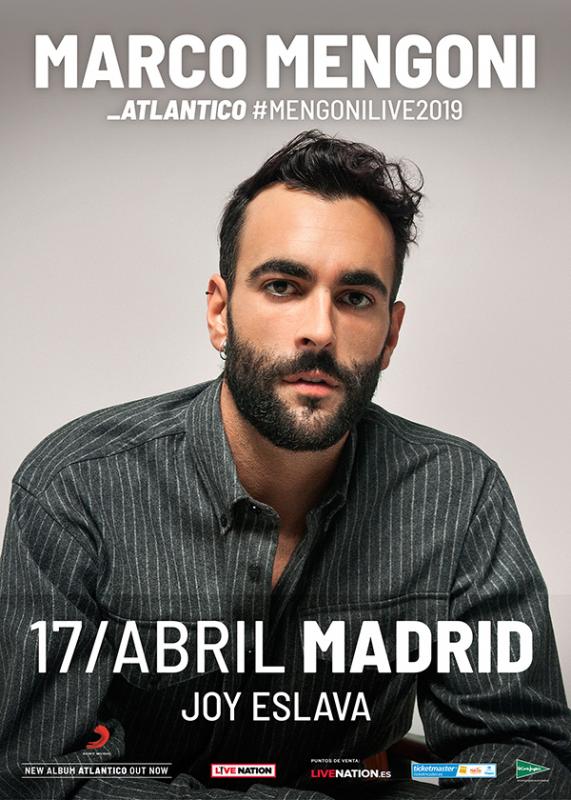 """Marco Mengoni, el artista pop No.1 en Italia, lanza su nuevo disco """"Atlántico"""" en español"""