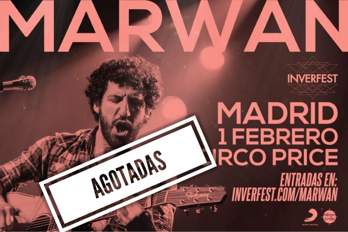 Marwan agota las entradas para su concierto en Inverfest