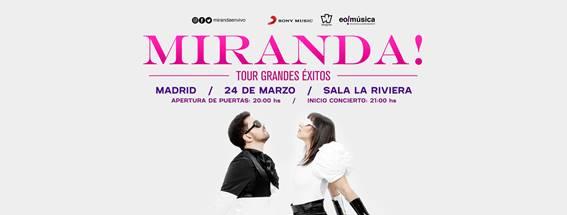 Miranda! ofrecerá tres conciertos en España en Marzo