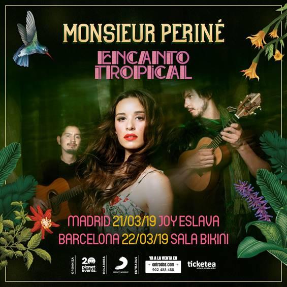 El grupo colombiano Monsieur Periné actuará en Madrid y Barcelona en marzo