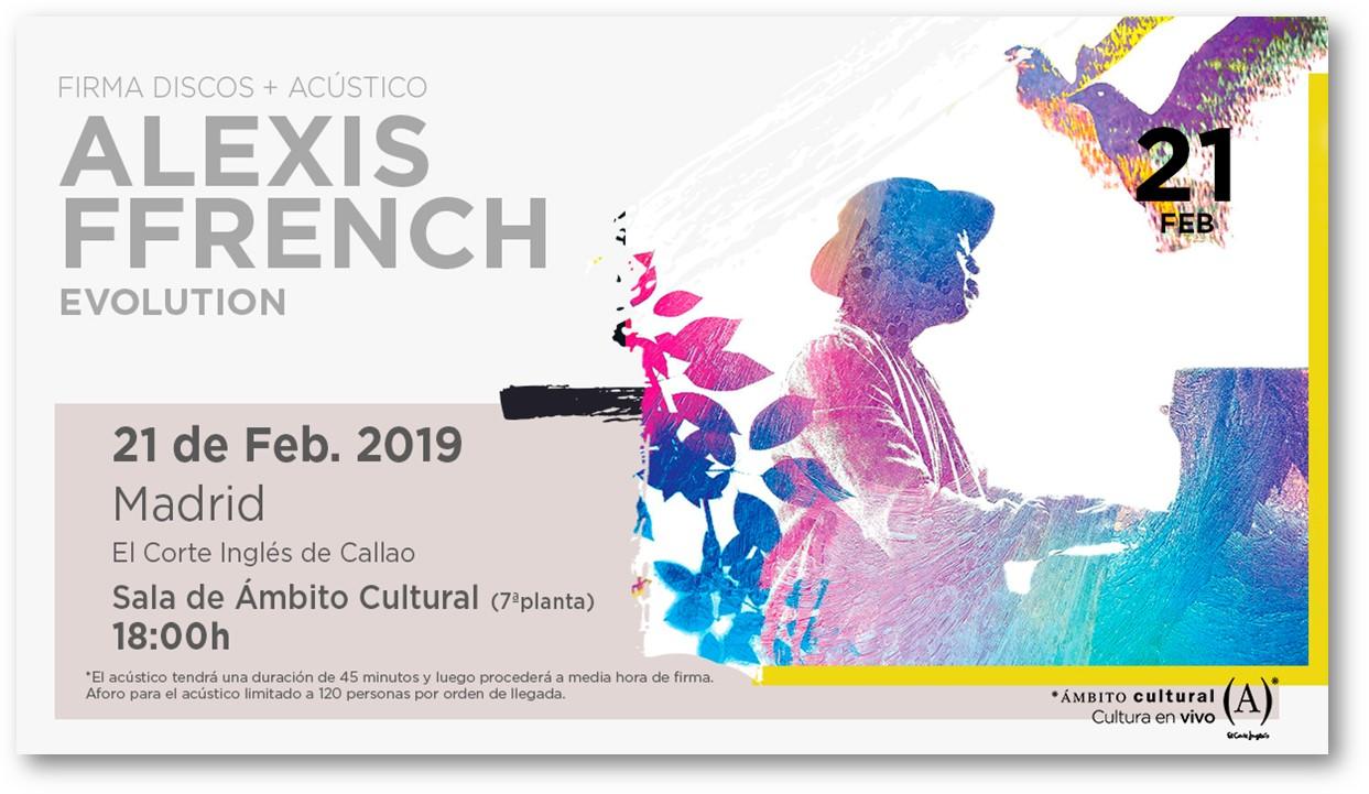 """El pianista Alexis Ffrench presenta en directo su último álbum """"Evolution"""" en el Corte Inglés de Callao el próximo 21 de febrero"""