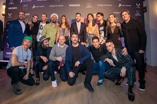 """Messi celebró anoche  la presentación mundial del espectáculo """"Messi10"""" de Cirque du Soleil"""