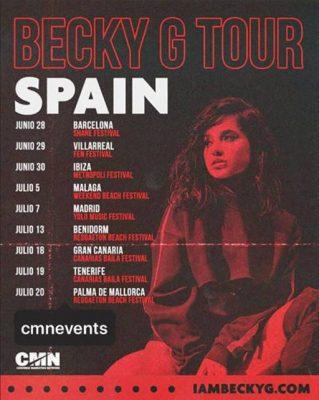 Becky G Gira España 2019