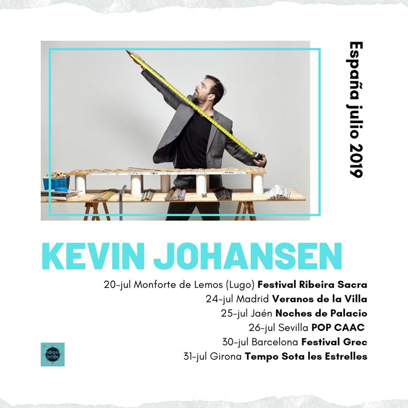 Kevin Johansen de gira por España en julio 2019