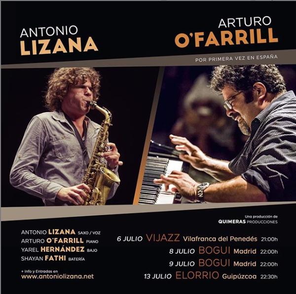 Antonio Lizana actúa con Arturo O'Farrill en España