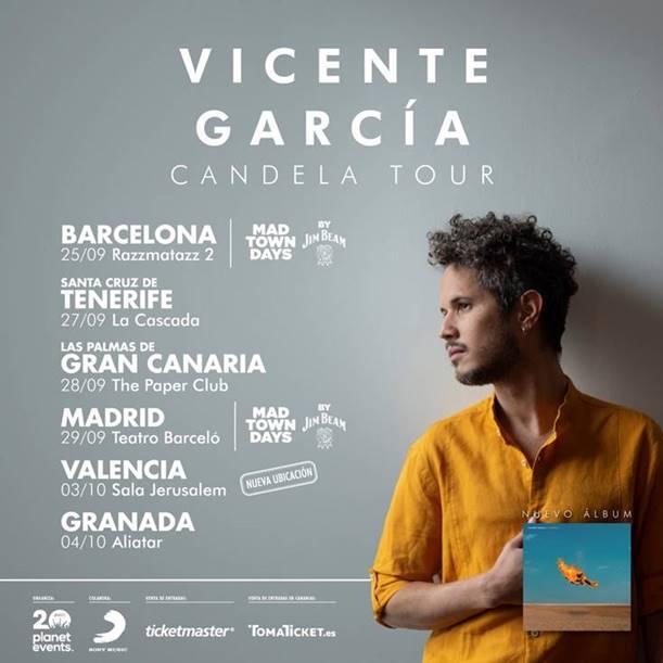 Vicente García comienza hoy su Candela Tour en Barcelona, tras ser nominado dos Latin Grammys