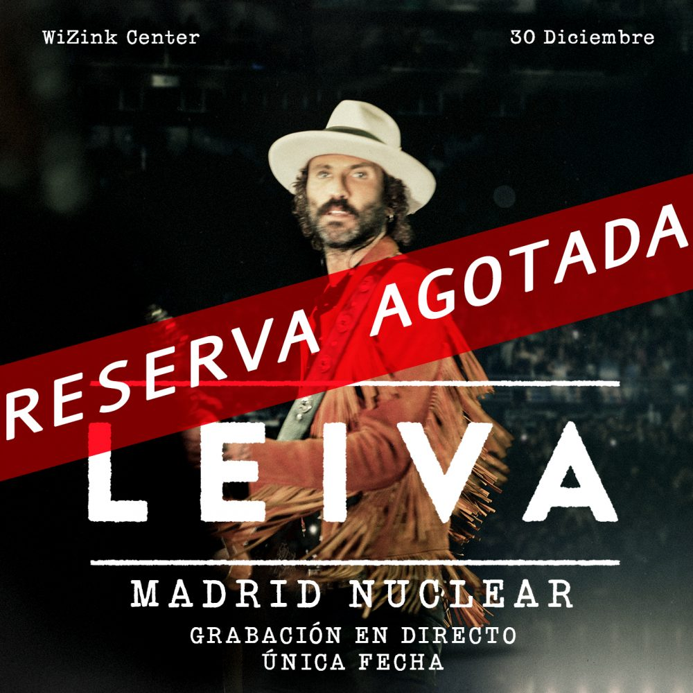 "Leiva agota las entradas para ""Madrid Nuclear"" en solo 10 minutos"