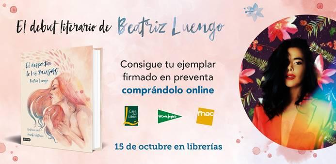 """Beatriz Luengo publica su primer libro """"El despertar de las musas"""" el próximo 15 de octubre"""