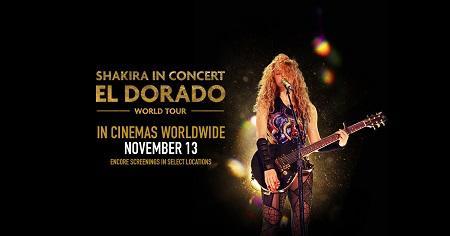"""Shakira estrena hoy su álbum en directo: """"Shakira in Concert: El Dorado World Tour"""""""