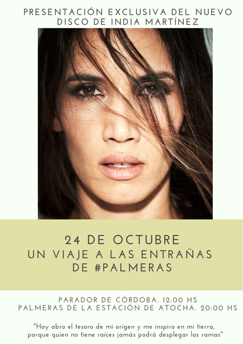 """India Martínez viaja a sus orígenes con su nuevo álbum """"Palmeras"""""""