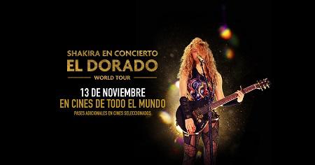 """Shakira anuncia el lanzamiento del álbum """"Shakira in Concert: El Dorado World Tour"""" el 13 de noviembre"""